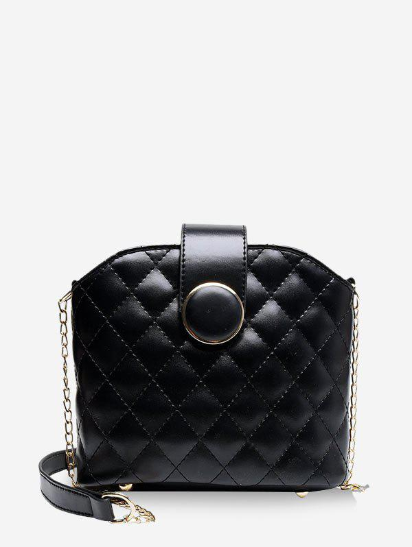 Chic Quilted Leather Chain Bucket Sling Bag