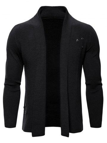 Solid Color Casual Knitted Cardigan