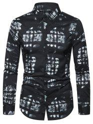 Floral Pattern Leisure Long-sleeved Shirt -
