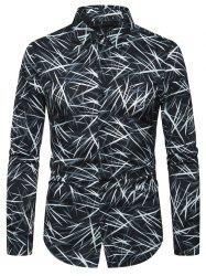Casual Printed Button Full Sleeves Shirt -