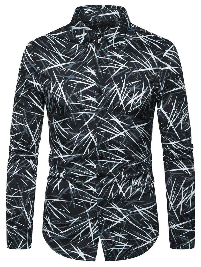 New Casual Printed Button Full Sleeves Shirt