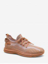 Textured Mesh Outdoor Low Top Sneakers -