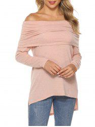 High Low Slit Raglan Sleeve Top -