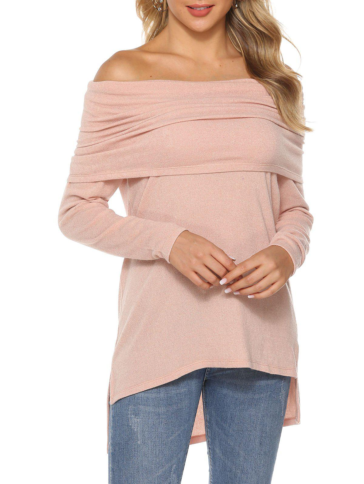 Online High Low Slit Raglan Sleeve Top