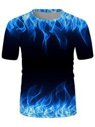 Flame Printed Short Sleeves T-shirt -