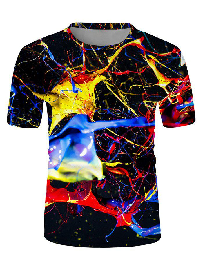 Chic Casual Colorful Printed Short Sleeves T-shirt