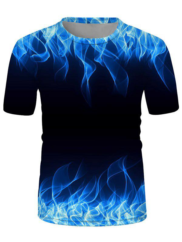 Hot Flame Printed Short Sleeves T-shirt