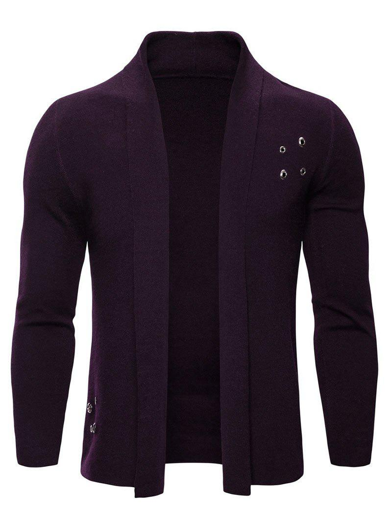 Buy Solid Color Casual Knitted Cardigan