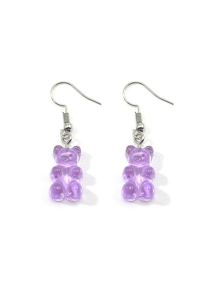 Cheap Transparent Resin Bear Drop Earrings