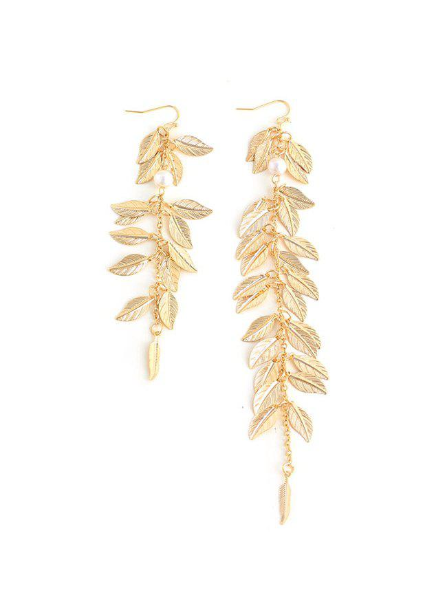 Outfit Leaves Shape Asymmetrical Dangle Earrings