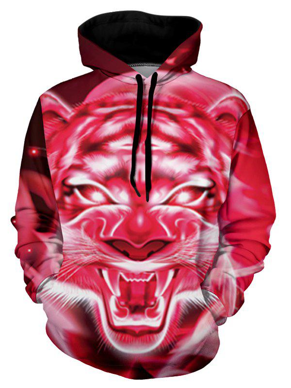 Buy Tiger Graphic Front Pocket Casual Hoodie