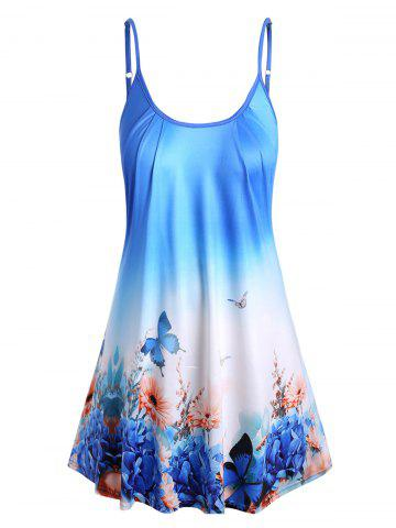 Plus Size Ombre Butterfly Print Cami Top