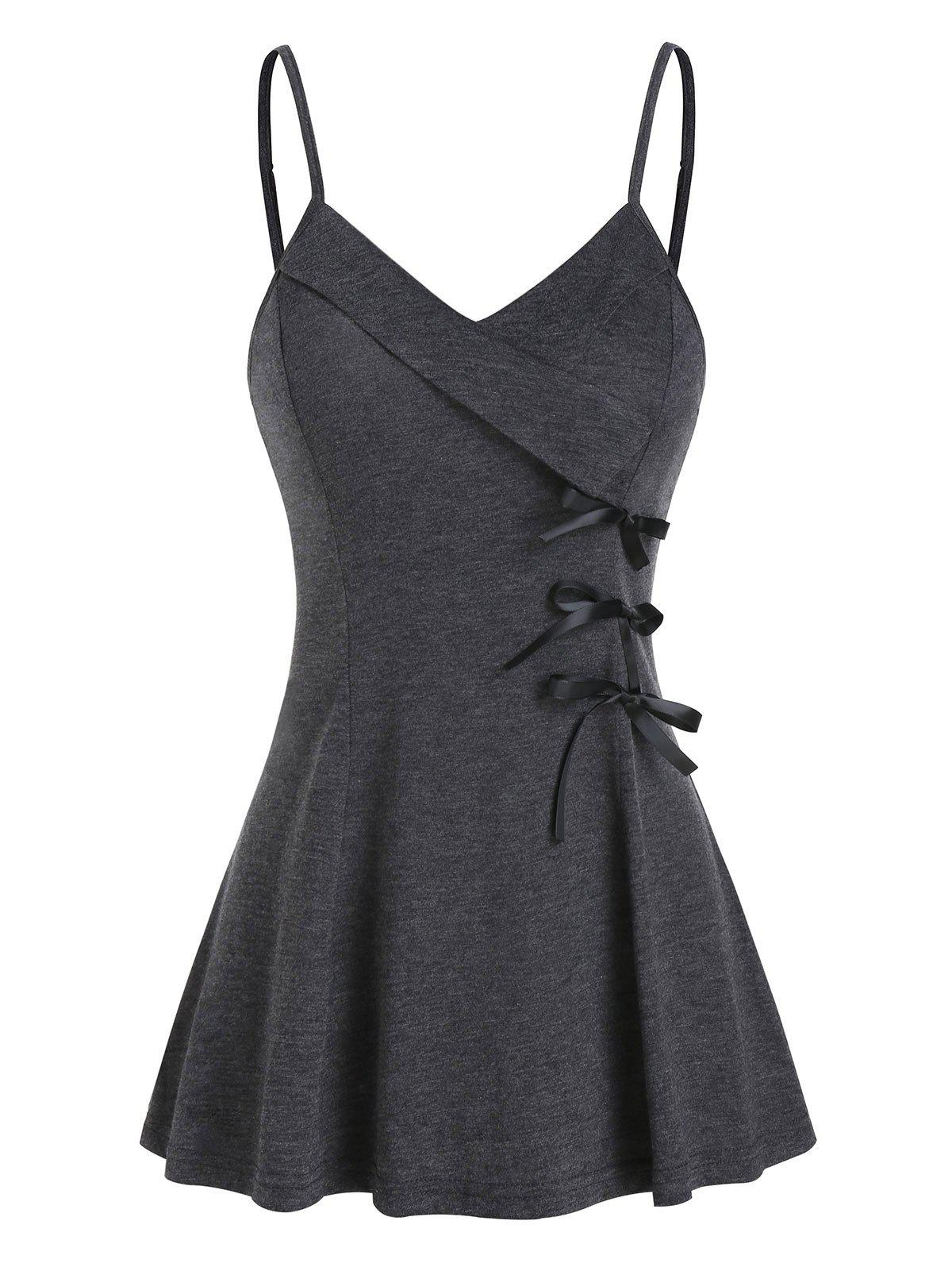 Bowknot Fit And Flare Slip Tank Top фото