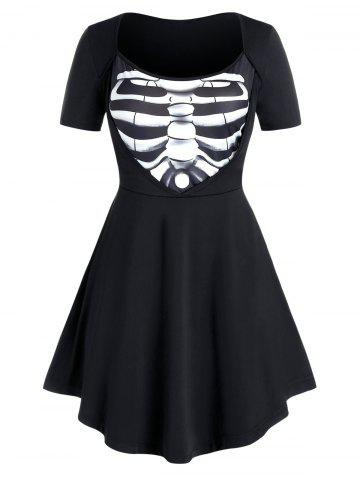 Plus Size Breastbone A Line Tunic Top