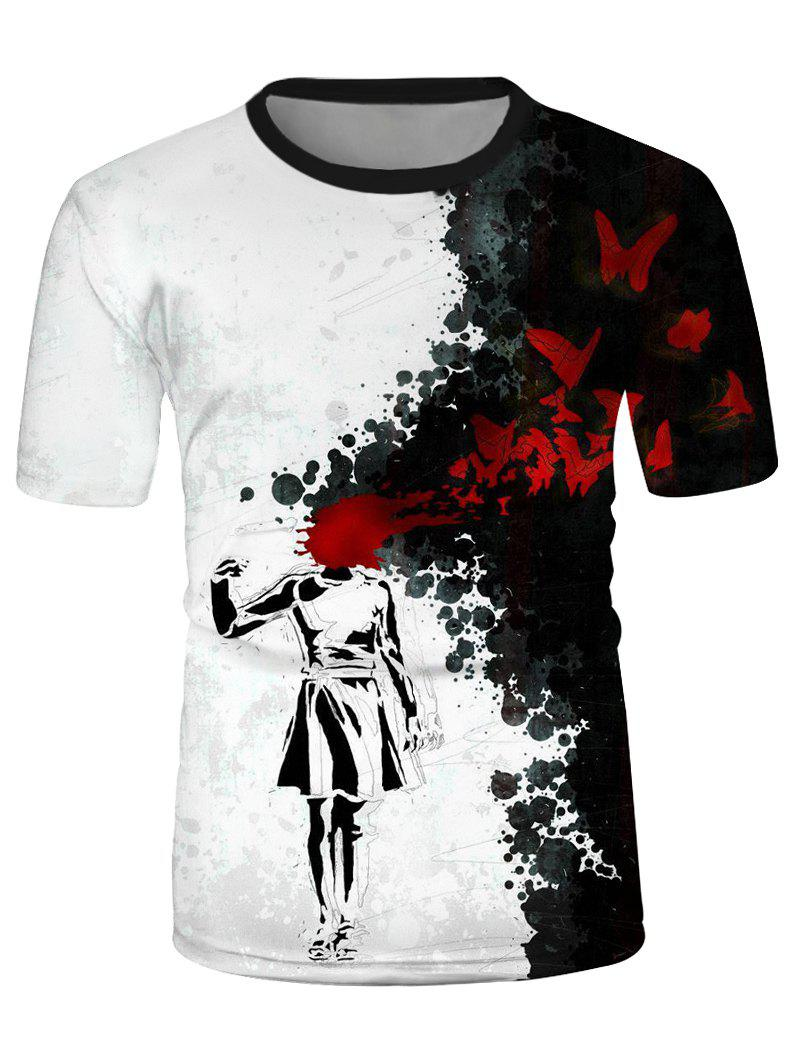 Outfits Ink Drawing Graphic Causal Short Sleeve T Shirt