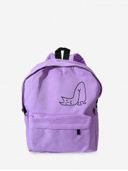 Canvas Pattern Backpack -