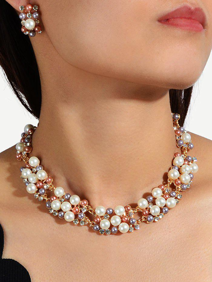 Buy Rhinestone Pearl Wedding Jewelry Set