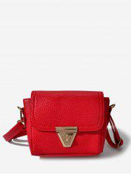PU Solid Crossbody Bag -