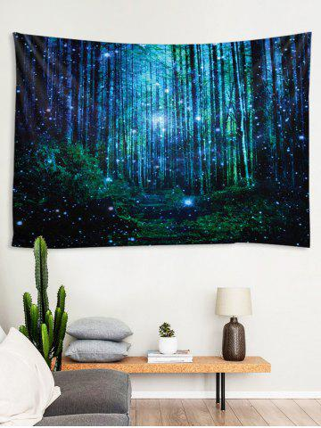 3D Print Forest Waterproof Wall Tapestry, Multi