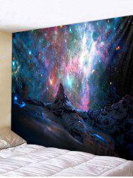 Galaxy Mountain Print Wall Tapestry -