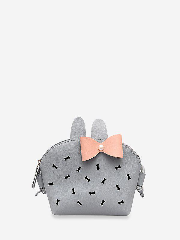 Affordable Hollow Out Bowknot Rabbit Crossbody Bag