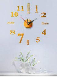 Home Decoration Letters Pattern Analog DIY Wall Clock -