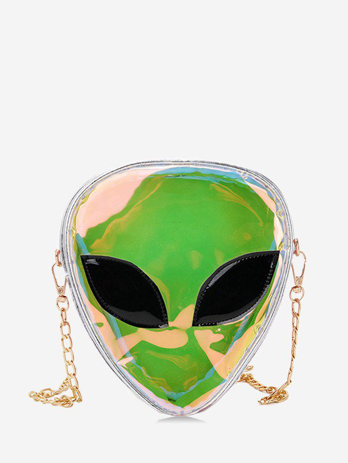 Купить со скидкой Alien Shape Hologram Chain Crossbody Bag