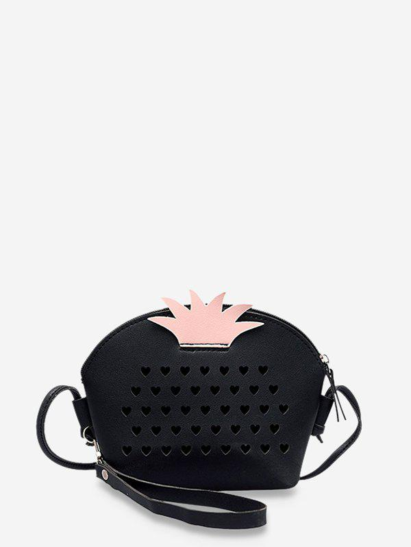 Store Hollow Hearts Pineapple Shape Crossbody Bag