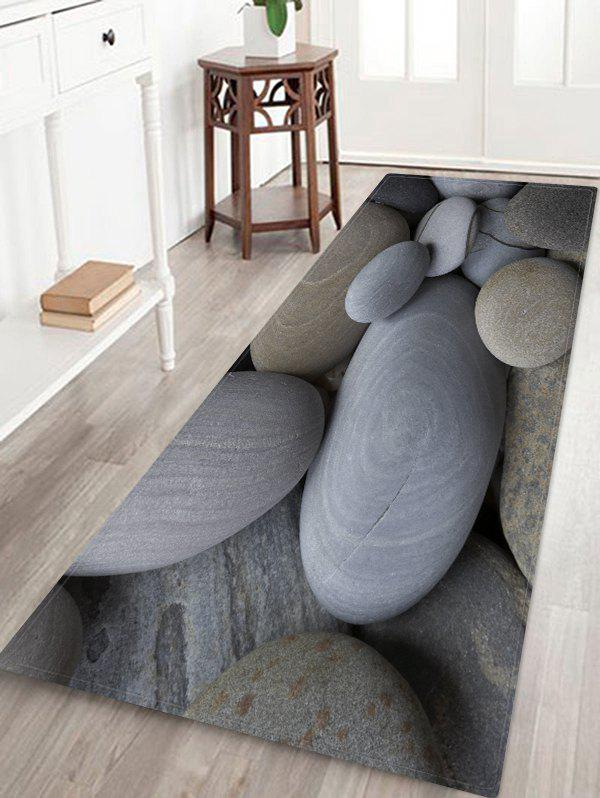 Discount 3D Stone Pattern Water Absorption Area Rug