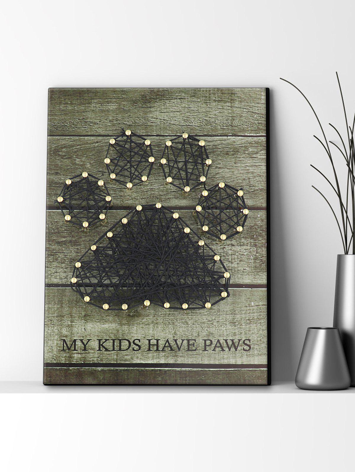 Best Paw Pattern Nails and Rope Decorative DIY Frame Painting