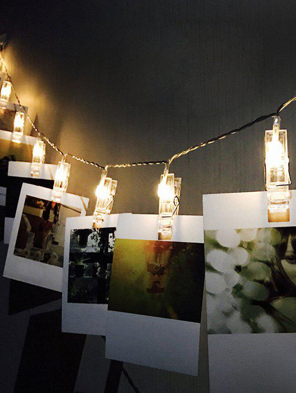 3 Meters DIY Photo Clip LED String Lights, Multi-a