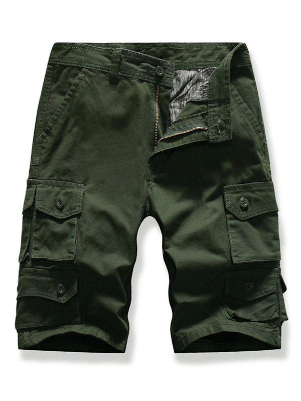 Store Letter Patched Multi-pocket Cargo Shorts