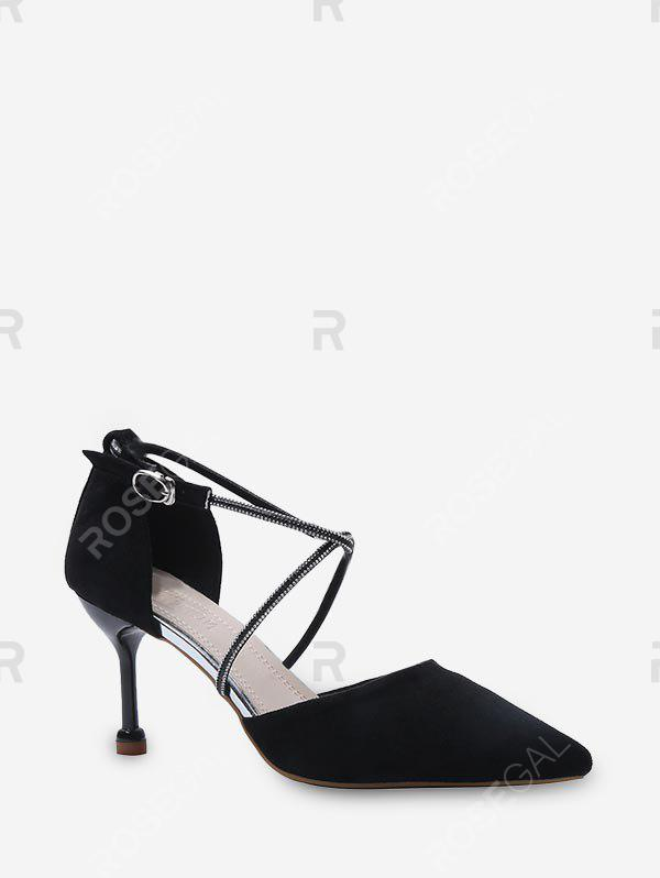 Latest Pointed Toe Strap High-heeled Shoes