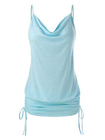 Plus Size Cinched Cowl Neck Cami Top