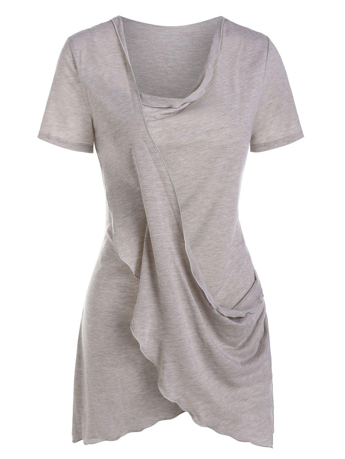 Shops Asymmetric Crossover Draped T Shirt