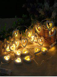 Heart Shape Wooden Decorative LED String Lights -