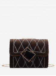 Rhombus Chain Quilted Crossbody Bag -