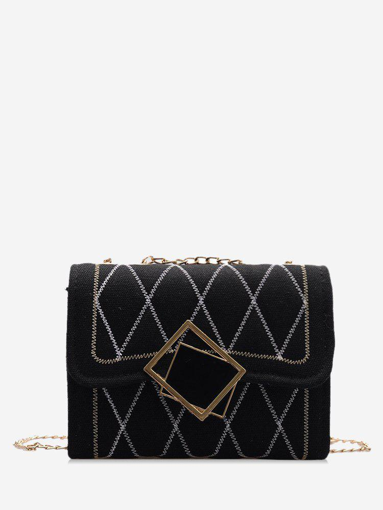 Unique Rhombus Chain Quilted Crossbody Bag