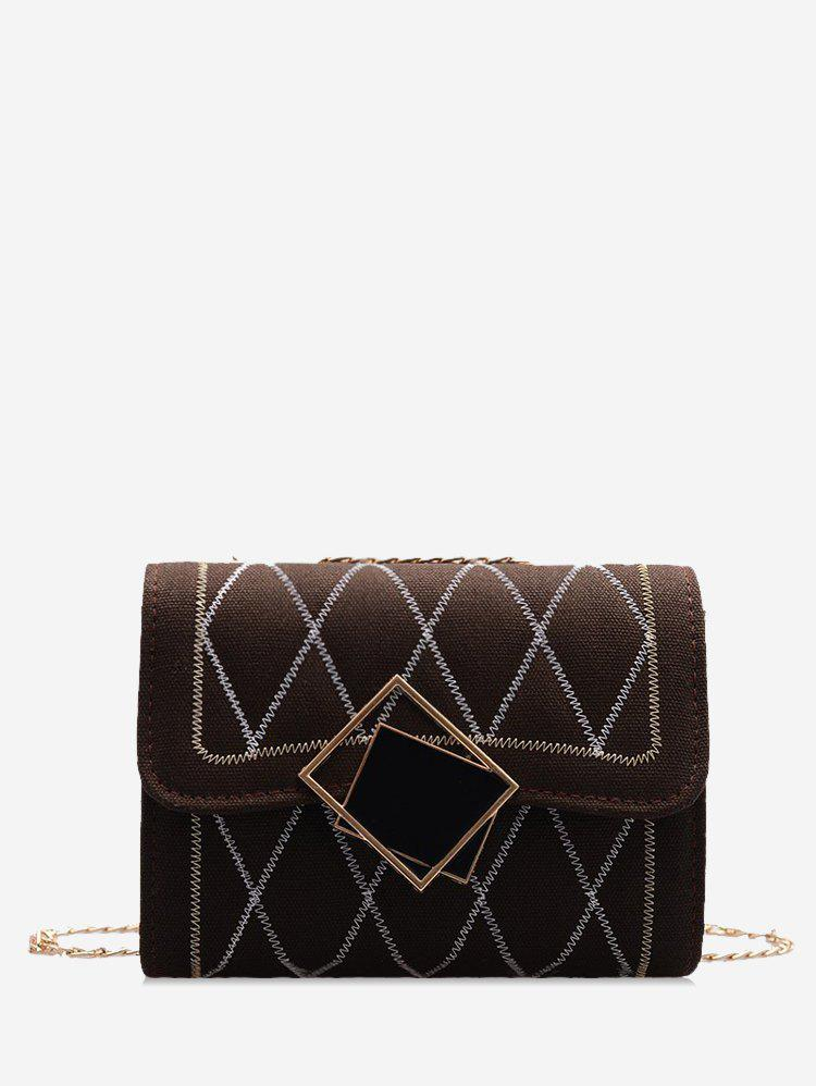 Shops Rhombus Chain Quilted Crossbody Bag