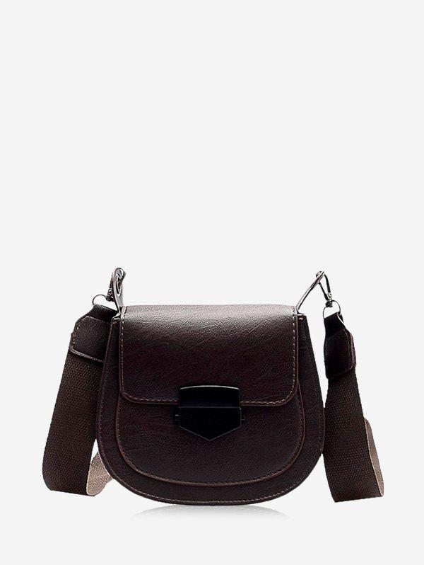 Store Retro Wide Buckle Cross Body Bag
