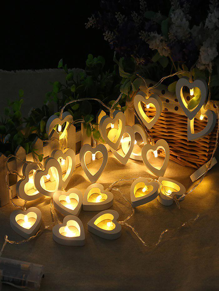 Outfits Heart Shape Wooden Decorative LED String Lights