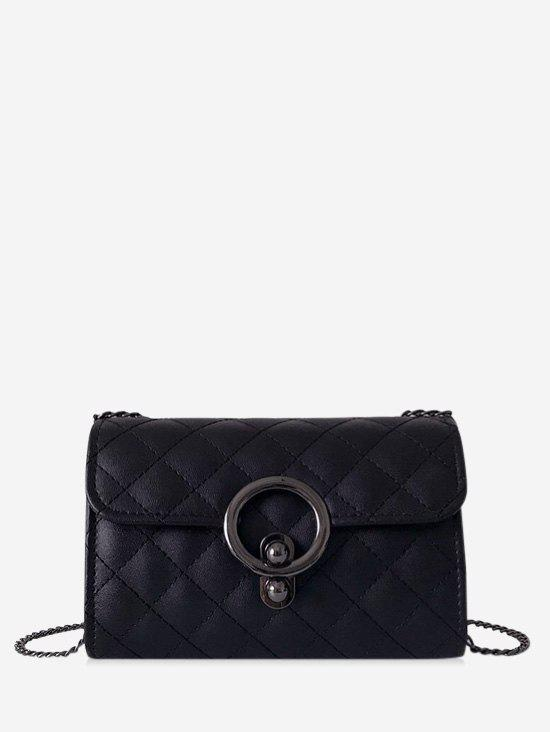 Latest Circle Hasp Chain Quilted Crossbody Bag