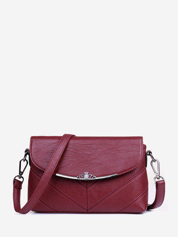 New Crown Solid Cross Body Bag