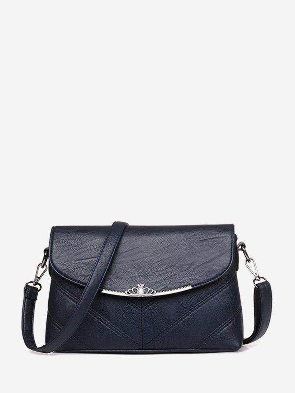Trendy Crown Solid Cross Body Bag