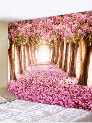 Cherry Blossoms Printing Wall Tapestry - MULTI - W59 X L51 INCH