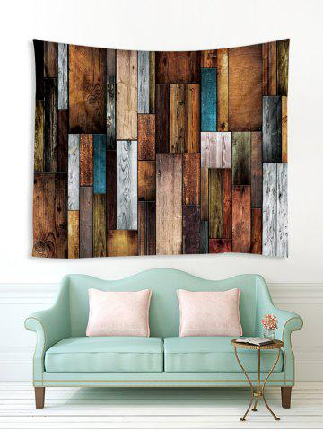 Wood Plank Printing Wall Tapestry