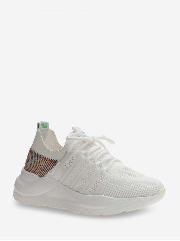 Breathable Mesh Comfortable Outdoor Sneakers - WHITE - EU 39