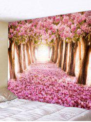 Cherry Blossoms Printing Wall Tapestry -