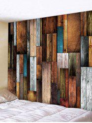 Wood Plank Printing Wall Tapestry -