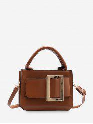 Buckle Embellished Square Crossbody Bag -